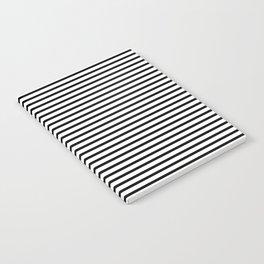 White Black Stripe Minimalist Notebook
