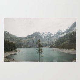 Lone Switzerland Tree - Landscape Photography Rug