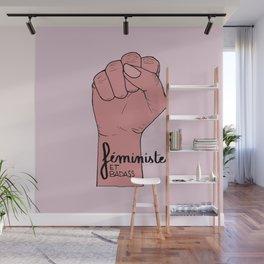 Féministe et badass Wall Mural