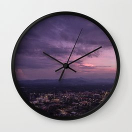 Asheville Stormy Nights Passing By Wall Clock