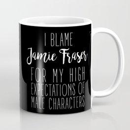 High Expectations - Jamie Fraser Black Coffee Mug