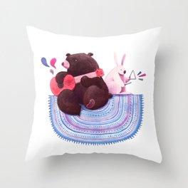 Bear & Bunny Throw Pillow