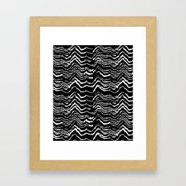 Dark Glitch Abstract Pattern Framed Art Print