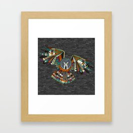 night owl charcoal Framed Art Print