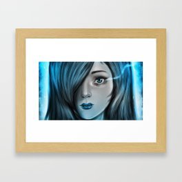 Blue Tear Framed Art Print