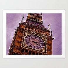 Big Ben in Purple Art Print