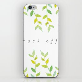 Fuck Off Vines iPhone Skin