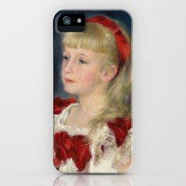 "Auguste Renoir ""Mademoiselle Grimprel au ruban rouge"" iPhone Case"