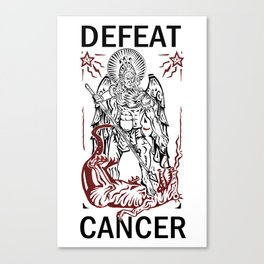 Defeat Cancer (Michael and the Dragon) Canvas Print