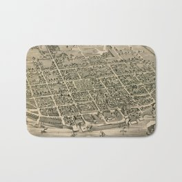 Vintage Pictorial Map of Fredericton New Brunswick (1882) Bath Mat