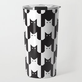 Cats Dog Tooth Pattern Travel Mug