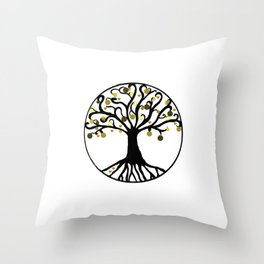 """""""Yggdrasil"""",Golden,Tree of Life,HOME DECOR,Duvet Covers,Comforters,Bed spreads,Blankets,Backpack Throw Pillow"""