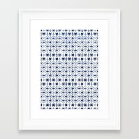 indigo Framed Art Prints featuring INDIGO by KIND OF STYLE