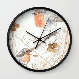 Kleine rote Vögelchen (Little red birdies) Wall Clock