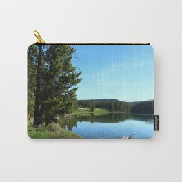 Peaceful Morning At Yellowstone River Carry-All Pouch