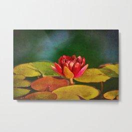Watercolor Lotus Metal Print
