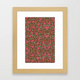 Magenta Floral Pattern Framed Art Print
