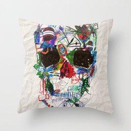Ruzgars Skull Throw Pillow