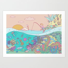 Busy underwater Art Print