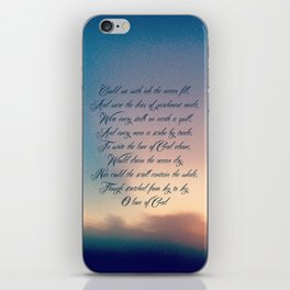 Love of God iPhone Skin