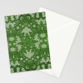 Victorian Vintage Boho Mossy Green Lace Stationery Cards