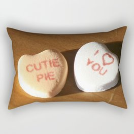 conversation heart love by cocoblue Rectangular Pillow
