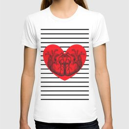Hearts and Stripes T-shirt
