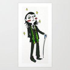 Loki (in Suit) (the Avengers) Art Print