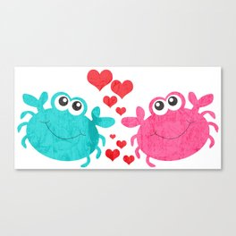 Love Crab Canvas Print