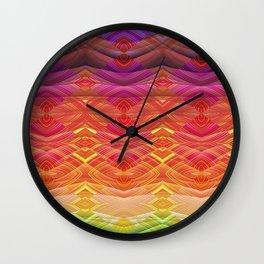 Dimensional Sunset Geometric Rainbow Wall Clock
