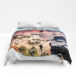 desert at Grand Canyon national park, USA in winter Comforters