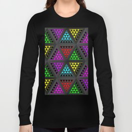 Abstract ornament with geometric prisms Long Sleeve T-shirt