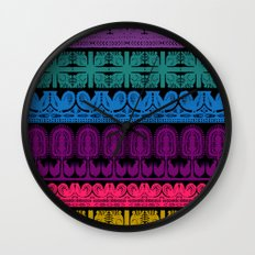 folk cutouts pattern Wall Clock