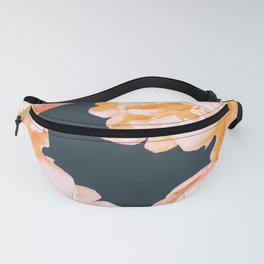 Peach Colored Flowers Dark Background #decor #society6 #buyart Fanny Pack