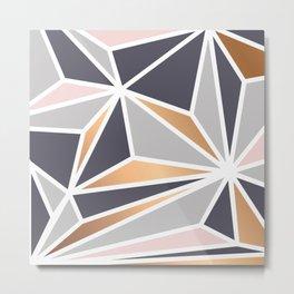 Geometry Gold 047 Metal Print