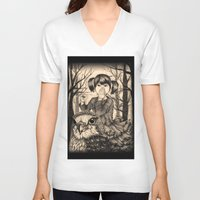 fairy tale V-neck T-shirts featuring Fairy tale by Paula Duta