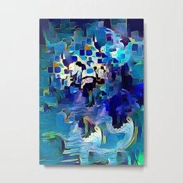 Ocean motion abstract Metal Print