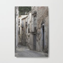 Sicilian Alley in Caltabellotta Metal Print