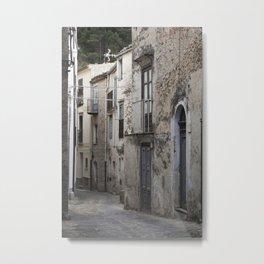 Sicilian Alley in Caltabellotta Metal Print