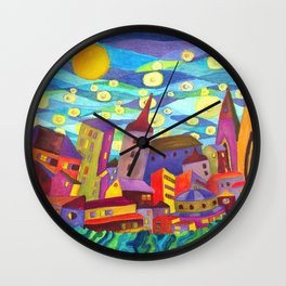 Night Eyes Wall Clock