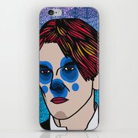 david bowie iPhone & iPod Skins featuring David Bowie by Arnaud Pagès