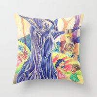 india Throw Pillows featuring India by ArtByG