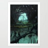 starcraft Art Prints featuring From Hell to Heaven through the tree of knowledge by Rafael Falconi