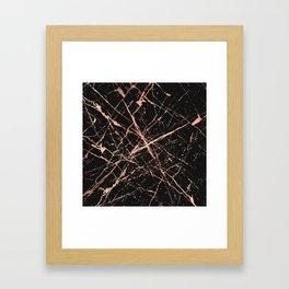 Copper Splatter 091 Framed Art Print
