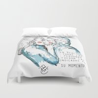 couple Duvet Covers featuring Couple by Jose Miguel Muñoz