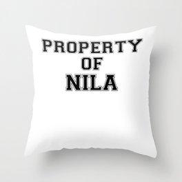 Property of NILA Throw Pillow