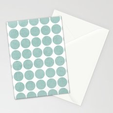 robins egg blue dots Stationery Cards