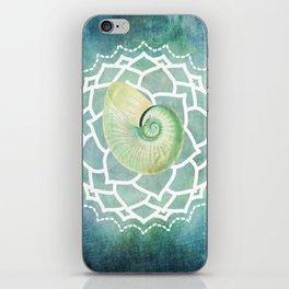 Shell Chakra Blue iPhone Skin