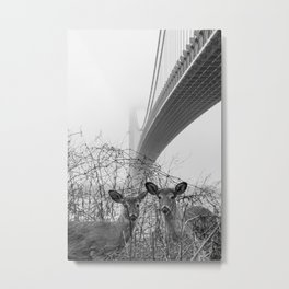 Pandemic Deer Metal Print