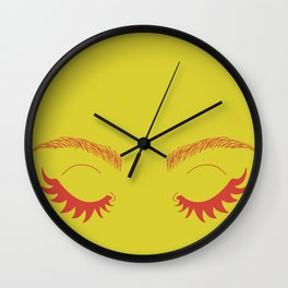 Betty Gone Batty (Red on Chartreuse Edition) Wall Clock